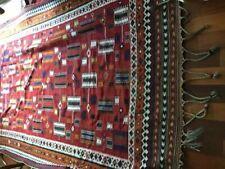 Magnificent Antique Hand Woven Wool Kilim Qashqai Geometric Large