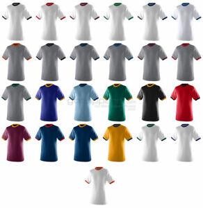 Augusta Sportswear Men's Double Needle Crewneck Rib Knit Ringer T Shirt. 710