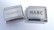 MANC 9mm Italian Charm + 1x Genuine Nomination Classic Link I LOVE MANCHESTER