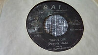 Johnny Mack 45 It Might Have Been/That's Live Promo Private Georgia Jazz TeenNM-
