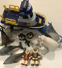 Toys R Us Animal Planet Arctic Polar Explorer Boat Bears Penguins Sled Eskimos