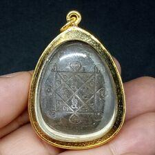 Thai Amulet Phra PIDTA LP TOH 2521 B.E Neur Kesorn Rung Yanna with Case Amulet
