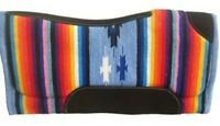 "32"" x 32"" Contoured Multi Color Serape Felt Bottom Saddle Pad!! NEW HORSE TACK!!"