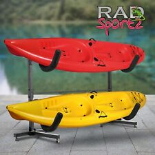 RAD Sportz 1006 Deluxe Freestanding Heavy Duty Kayak Rack Two Kayak Storage