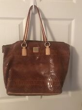 DOONEY BOURKE LARGE SNAKESKIN/ PYTHON HANDBAG