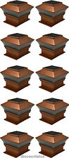 New 2SMD LED}Solar Powered Bright Post Cap LED Lights For 4x4 Wood Post 10 Pack