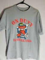 "Vintage ""On Duty"" Babe Guard Shirt 1989 Softee Size Large"