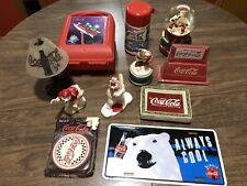 Lot Of 11 Vintage Coca Cola Coke Memorabilia Collectibles Figurines Snow Globe