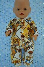 "Play n Wear Dolls Clothes For 17"" Baby Born PJ'S~FLANNELETTE PANTS~TOP~BOOTIES"