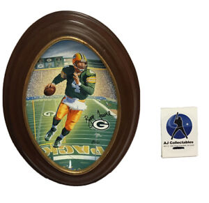 Brett Favre 3 Degrees To victory Framed Plate GreenBay Packers NFL Football