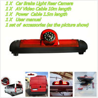 Rear View Reverse Backup CCD Camera For FIAT Ducato brake light Peugeot 06-15