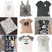 PRIMARK ADULT Ladies DISNEY T Shirt Tee Vest Top VARIOUS STYLES AVAILABLE
