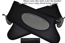 BLACK STITCHING FITS ROVER 75 MG ZT 1999-2005 2X SUN VISORS LEATHER COVERS ONLY