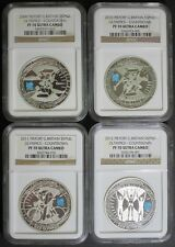 2009- 2012 *THICK* LONDON OLYMPIC COUNTDOWN SILVER PIEFORT NGC PF70 SET 4 COIN