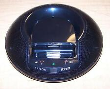 Satechi iCraft PORTABLE Dock Station Round Speaker System for iPod iPhone READ