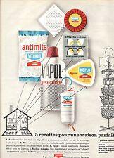 PUBLICITE ADVERTISING 034 1964 SPONTEX 5 produits de nettoyage