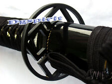 Handmade Engraved Dragon Black Japanese Sword Katana Sharp Full Tang