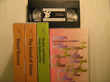 Lot of 5 VHS Tape THE ROLAND COLLECTION OF FILMS ON ART [Y30]