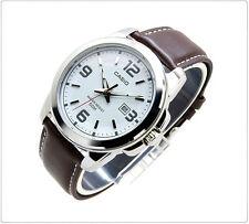 Genuine New Casio Ladies Women's Leather Dress Date  Analog Watch LTP-1314L-7AV