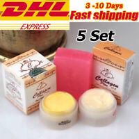 5 x Set Collagen Plus Vit E Cream DAY & NIGHT + SOAP Whitening Skin Lightening