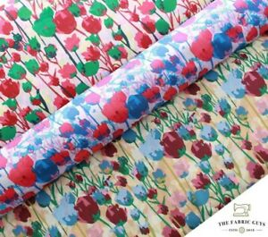 """100% Cotton Lawn, William Morris Floral Tulips Rose Vines , High Quality 58"""""""