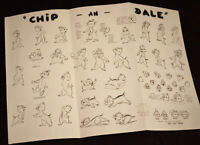 Walt Disney Studios CHIP 'n DALE Animation Art Model Sheet 1948 2005
