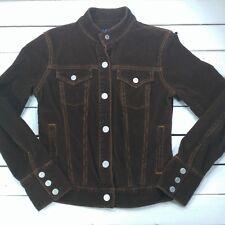 GAP Stretch Womens Corduroy Jacket Sz Small Brown Cotton Trucker Snap - J16-7