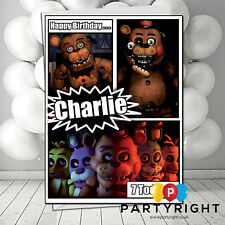 Personalised Five Nights At Freddy's Birthday Card A5 Large - Any Name