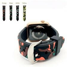 For Apple Watch Camo Design Silicone Sports Wrist Band Replacement For iWatch