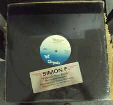 """SIMON F I Want You Back (Extended Version) 12"""" OOP mid-80's synth-pop"""