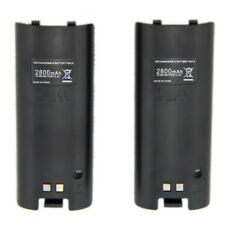 2PCS Rechargeable Battery Pack 2800mAh Nintendo Wii Remote Game Controller New