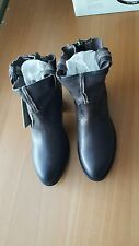 FRYE NIB $398 leslie artisan short charcoal grey boots shoes US 7.5 M