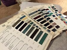 STUDEBAKER RARE VINTAGE PARTS PAINT CHIPS CHARTS 1937-1964. COMPLETE SET LOOK!!