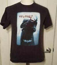 The Dark Knight Why So Serious Joker Black T Shirt Original 2008 Promo Size M