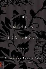The Mute's Soliloquy by Pramoedya Ananta Toer (1999, Hardcover)