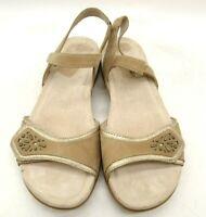 Dansko Brown Leather Embellished Strap Comfort Sandals Shoes Womens 38 / 7.5 - 8
