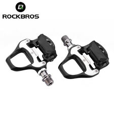 RockBros Bike Cycling Pedals Road Self-lock with SPD-SL Cleats CR-MO Steel Axle