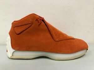 Nike Air Jordan 18 Retro Campfire Orange AA2494 801 Mens Size 8.5