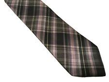 Bill Robinson Mens Necktie Plaid Tie Black Pink Purple