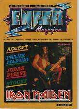 enfer magazine n°2 iron maiden / accept/ franck marino/ judas priest /stocks