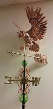 Beautiful  COPPER OWL WITH ARROW  weathervane, COMPLETE SETUP + mount