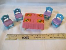 Mattel Dora The Explorer Table Chairs Party Doll House Cake Dinner Flip Expand