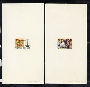 Vietnam stamps 1969  SC#349-50 Deluxe Sheets Scale of Justice, mint, NH