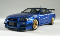 1:18 ROUTE TWISK OTTO MOBILE RT09 NISSAN SKYLINE GTR R34 TUNED BY MINE'S BLUE