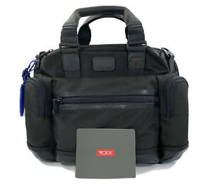 TUMI Brooks Slim Brief Black Briefcase Computer Bag Commuter Laptop
