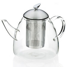 DESIGN 1,8 L XL LARGE TEAPOT TEA READY TEA PREPARER JUG GLASS STAINLESS STEEL