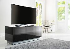 Alphason Element Modular TV Stand Cabinet Black High Gloss Tall 1250mm Wide