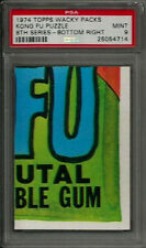 1974 Topps Wacky Packages Kong Fu Puzzle Bottom Right 8th Series PSA 9 MINT Card