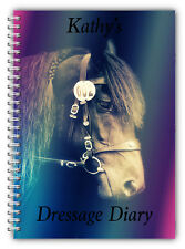 A5 PERSONALISED EQUINE HORSE & RIDER DRESSAGE COMPETITION LOGBOOK DIARY 50 PGS 2