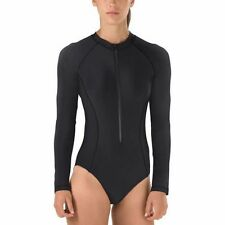 NWT Speedo Women's Long Sleeve One-Piece Paddle Swimsuit - Zipper Front - Lined
